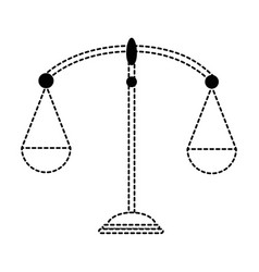 balance scale isolated icon vector image