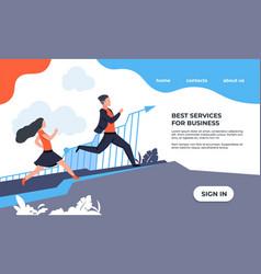 business landing page website interface design vector image