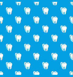 Canine tooth pattern seamless blue vector