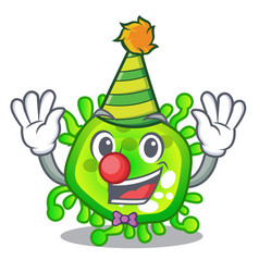 clown virus cells bacteria microbe isolated mascot vector image