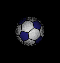 colorful dotted football on black vector image