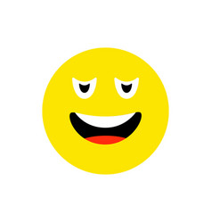 confused face emoji icon flat style cute emoticon vector image