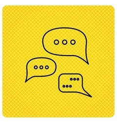Conversation icon Chat speech bubbles sign vector