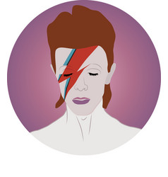 David bowie portrait vector