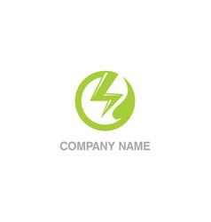 Eco power bolt technology company logo vector