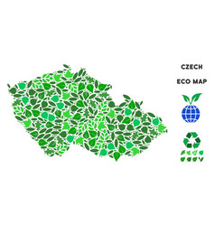 ecology green collage czech map vector image