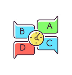 Educational game rgb color icon vector