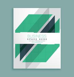 elegant white brochure design with green vector image