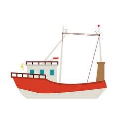 Fishing boat icon vector