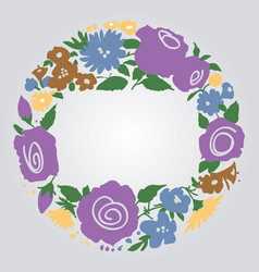 floral frame with space for text vector image