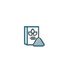 flour icon design gastronomy icon vector image