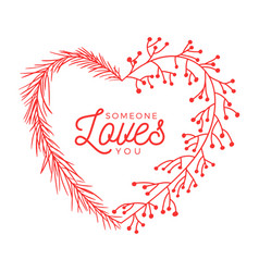 flower heart valentine day hand drawn hearts with vector image