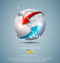 Globe concept vector