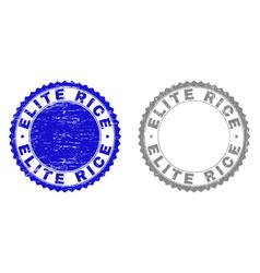 grunge elite rice textured stamps vector image