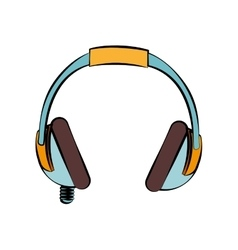 Headphone music sound design isolated vector