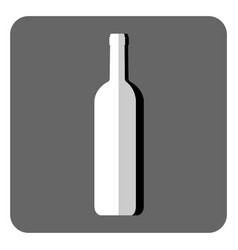 Icon with a picture of a wine bottle vector