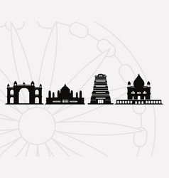 india landmarks design vector image
