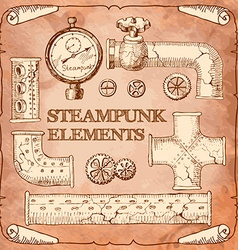 Industrial Victorian style grunge Steampunk design vector image