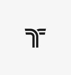letter t line logo design creative vector image