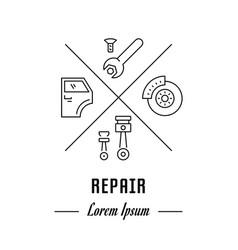 Line banner repair vector
