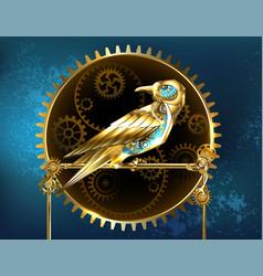 mechanical bird vector image vector image