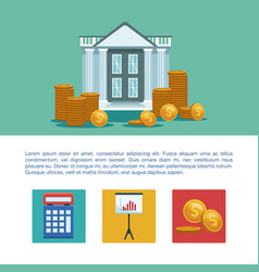 Money and business infographic vector