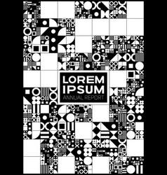 Monochrome minimal covers procedural design vector