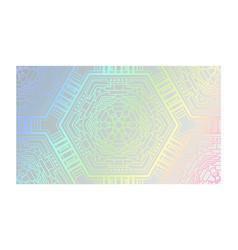 neon gradient hologram futuristic metallic net vector image