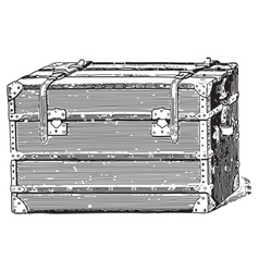 Old coffer vector