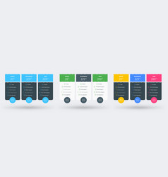 pricing table design template pricing plans vector image