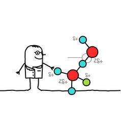 scientist with molecule vector image