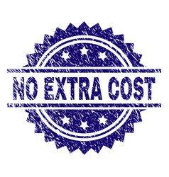 Scratched textured no extra cost stamp seal vector