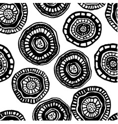 Seamless pattern with aborigine flowers vector