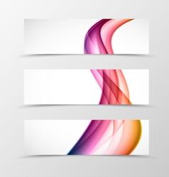 set header banner wave design vector image