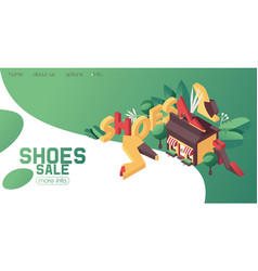 Shoes shop or boutique banner can be used as vector