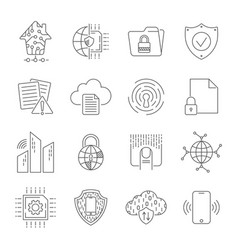 simple set abstract electronics and digital vector image