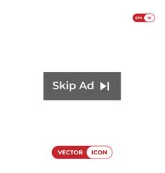 skip ad button vector image