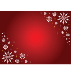 snowflakes and stars border vector image