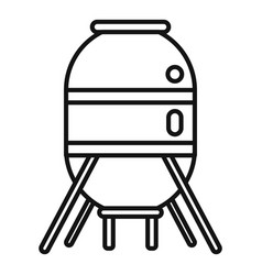 space capsule icon outline style vector image