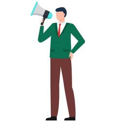 Speaker with bullhorn business promotion vector