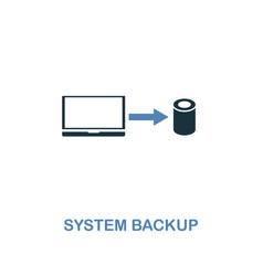 system backup icon in two colors premium design vector image