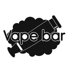 vape bar logo simple style vector image