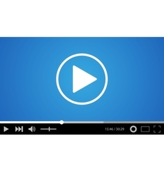 Video player flat design vector