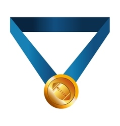 winner gold medal vector image