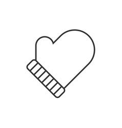 winter glove line icon vector image