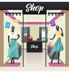 Women Fashion Shop Sale Window display vector