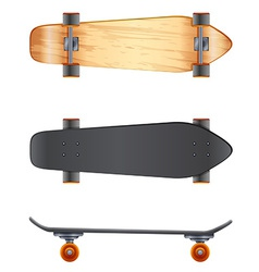 Wooden skateboards vector