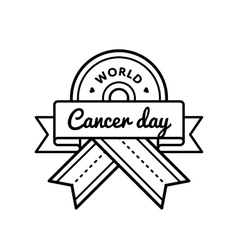 World Cancer Day greeting emblem vector
