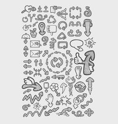 Arrow Icons Sketch vector image