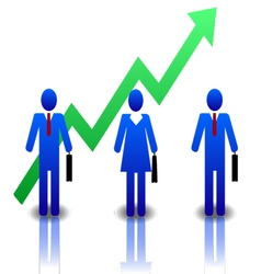 Business-people-blue-green vector image vector image